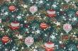 Látky Patchwork - Vánoční baňky na tm. zelené