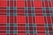 Látky Patchwork - Skotská kostka - červeno-zelená