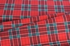134326-0002 Skotská kostka - červeno-zelená -