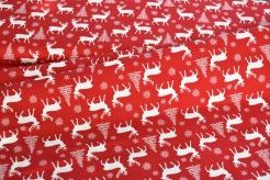 134333-0001 Vánoční motiv na sv. červené -