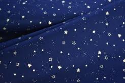 134375-0016 Zlaté hvězdičky na tm. modré -